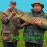 Brendan and Jean-Yves with 108cm pike