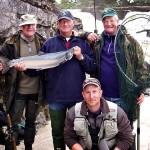 Salmon angling