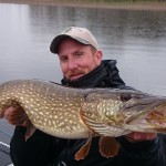 fly caught pike